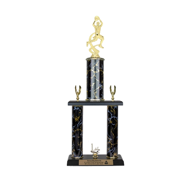 2 Post <BR>M Motion Basketball Trophy<BR> 18-20 Inches<BR> 10 Colors