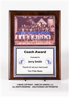 Team Picture Plaque<BR> 9 x 12 Inches