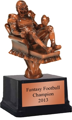 Arm Chair Qb Fantasy Football Trophy 8 Inches