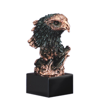 Bronze Bust<BR> Eagle Trophy<BR> 8.5 Inches