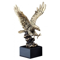 Gold American<BR> Eagle Trophy<BR> 10 to 14 Inches