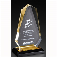 Executive Arrowhead<BR> Gold Acrylic Trophy<BR> 7.75 & 8.75 Inches