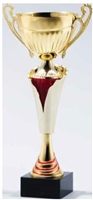 Ruby Waterfall <BR> Metal Trophy Cup<BR> 12.5 to 17.5 Inches