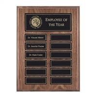 12 Plate<BR> GenuineWalnut<BR> Magnetized Perpetual Plaque<BR> 9x12 Inches