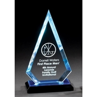 Premium Diamond<BR> Blue Acrylic Trophy<BR> 8.25 & 9.75 Inches