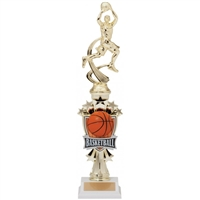 Male Motion<BR> Basketball Trophy<BR> 14 Inches