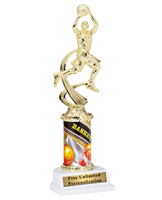 Male Basketball Theme Trophy<BR> 10 Inches