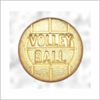 Volleyball Letterman pin<BR> 5/8 Inch