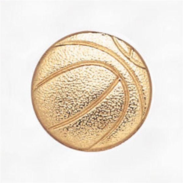 Chenille Pin<BR> Basketball