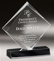 Executive Diamond<BR> Clear Acrylic Trophy<BR> 5.75 & 7 Inches
