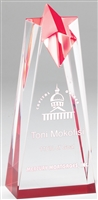 Executive Star<BR> Red Acrylic Trophy<BR> 6 to 10 Inch