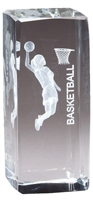 Jr. Collegiate<BR> Female Basketball<BR> Crystal Trophy<BR> 4.5 Inches