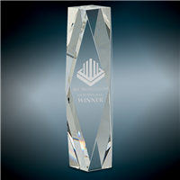 Premium Spectrum<BR> Crystal Trophy<BR> 8 to 12 Inches