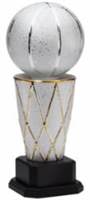 Premium Ceramic<BR> Basketball Trophy<BR> 15 to 19.5 Inches