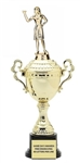 Monaco Gold Cup<BR> Female Dart Thrower Trophy<BR> 13 to 16 Inches
