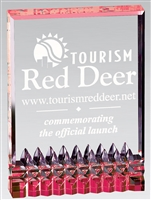 Splash Billboard<BR> Red Acrylic Trophy<BR> 5 to 7 Inches