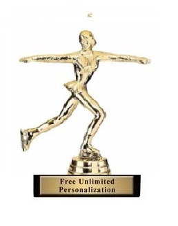 F Figure Skater Trophy<BR> 5 Inches