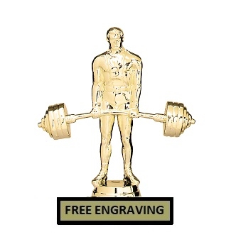 Bench Press<BR> Deadlift Trophy<BR> 6.25 Inches