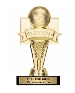 Banner Basketball<BR> Gold Trophy<BR> 6.75 Inches