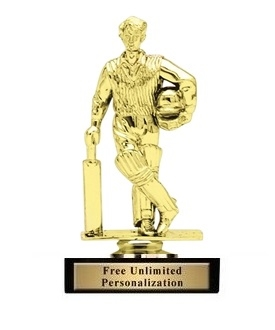Standing Cricket Batsman Trophy<BR> 5 Inches