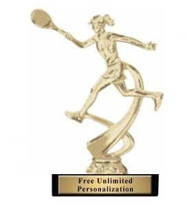 Motion Female<BR> Tennis Trophy<BR> 6.75 Inches