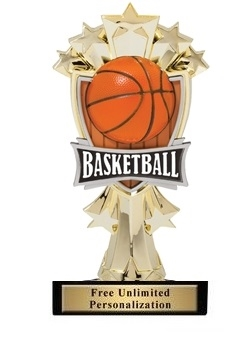 Basketball All-Star<BR> Gold Trophy<BR> 7.25 Inches