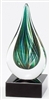 Green Drop<BR> Art Glass Trophy<BR> 7 Inches<BR> Regular $49.99