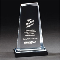 Executive Gem<BR> Clear Acrylic Trophy<BR> 7 to 9 Inches