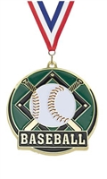 Hi Tech Baseball Medal<BR> Gold Back Only<BR> 2 Inches