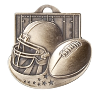 Star Blast II<BR> Football Medal<BR> Gold/Silver/Bronze<BR> 2 Inches