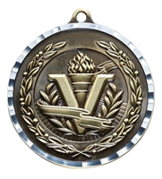 Diamond Cut<BR> Victory Medal<BR> Gold/Silver/Bronze<BR> 2 Inches