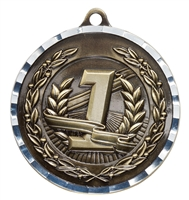 Diamond Cut<BR> 1st Place Medal<BR> Gold<BR> 2 Inches