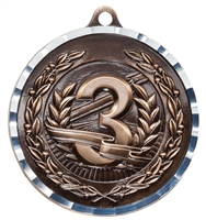 Diamond Cut<BR> 3rd Place Medal<BR> Bronze<BR> 2 Inches