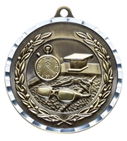 Diamond Cut<BR> Swimming Medal<BR> Gold/Silver/Bronze<BR> 2 Inches