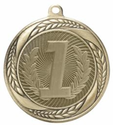 Laurel Wreath 1st Place<BR> Gold Only<BR> 2.25 Inch Medal