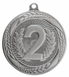 Laurel Wreath 2nd Place<BR> Silver Only<BR> 2.25 Inch Medal