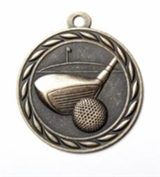Sports Golf<BR> Gold/Silver/Bronze<BR> 2 Inches