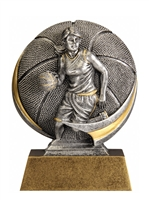 Mini Motion<BR> Female Basketball Trophy<BR> 5 Inches
