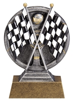 Mini Motion<BR> Checkered Flags Trophy<BR> 5 Inches