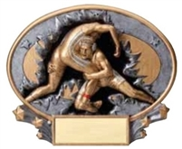 Wrestling<BR> Explosion Trophy<BR> 6 Inches