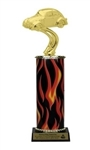 Flame Column<BR> VW Bug Trophy<BR> 10-12 Inches