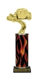 Flame Column<BR> Hot Rod Trophy<BR> 10-12 Inches