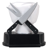 Chef/Hat/Knife Trophy<BR> 5 Inches
