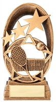 Radiant Star<BR> Tennis Trophy<BR> 6.5 Inches