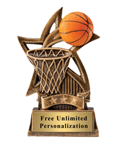 Star Basketball Trophy<BR> 6 Inches