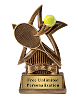 Star Tennis Trophy<BR> 6 Inches