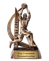Ultra Action Female Basketball Trophy <BR> 6.25 Inches