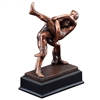 Bronze Gallery<BR> Wrestling Trophy<BR> 11 Inches