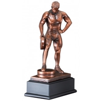Bronze Gallery<BR> Male Weightlifter Trophy<BR> 12 Inches