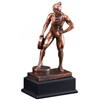 Bronze Gallery<BR> Female Weightlifter Trophy<BR> 12 Inches